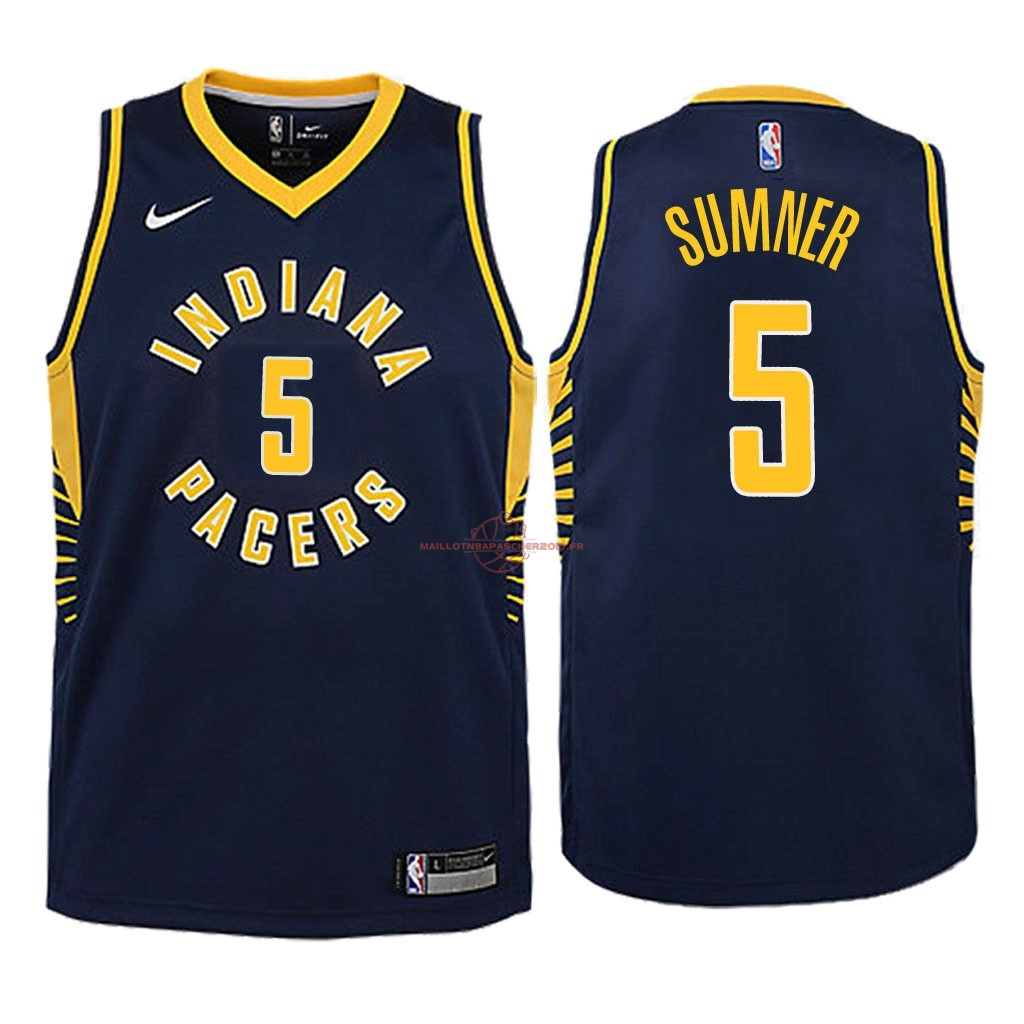 Achat Maillot NBA Enfant Indiana Pacers NO.5 Edmond Sumner Marine Icon 2018 pas cher