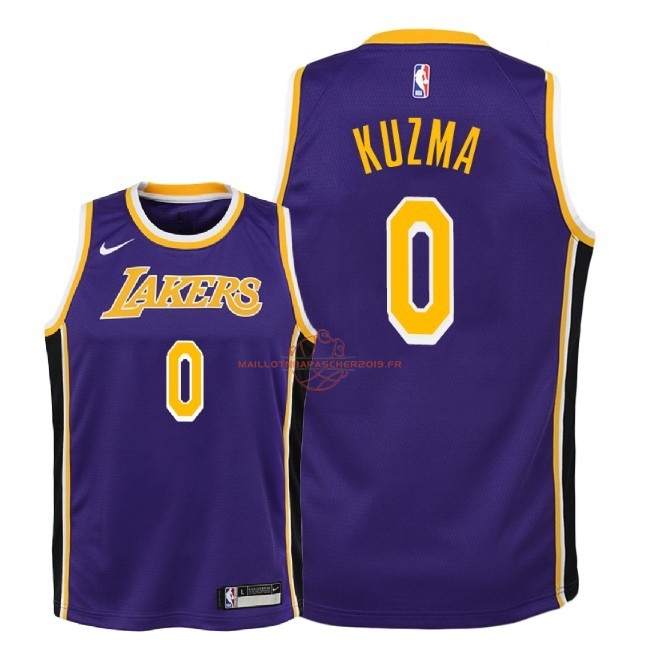 Achat Maillot NBA Enfant Los Angeles Lakers NO.0 Kyle Kuzma Pourpre Statement 2018-19 pas cher