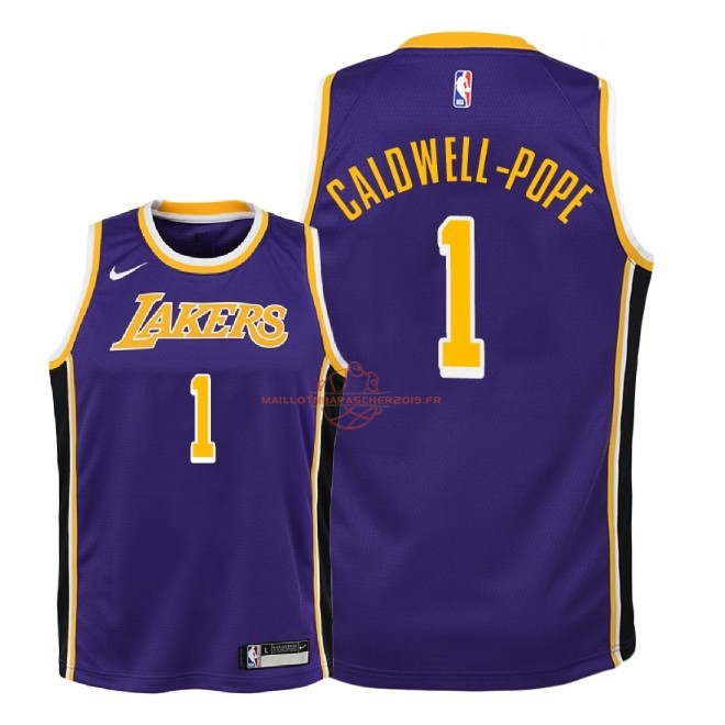 Achat Maillot NBA Enfant Los Angeles Lakers NO.1 Kentavious Caldwell Pope Pourpre Statement 2018-19 pas cher