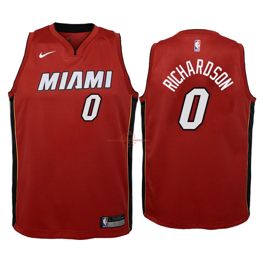 Achat Maillot NBA Enfant Miami Heat NO.0 Josh Richardson Rouge Statement 2018 pas cher