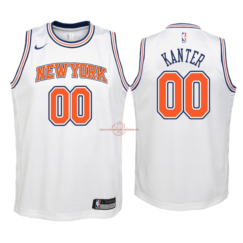 Achat Maillot NBA Enfant New York Knicks NO.0 Enes Kanter Blanc Statement 2018 pas cher