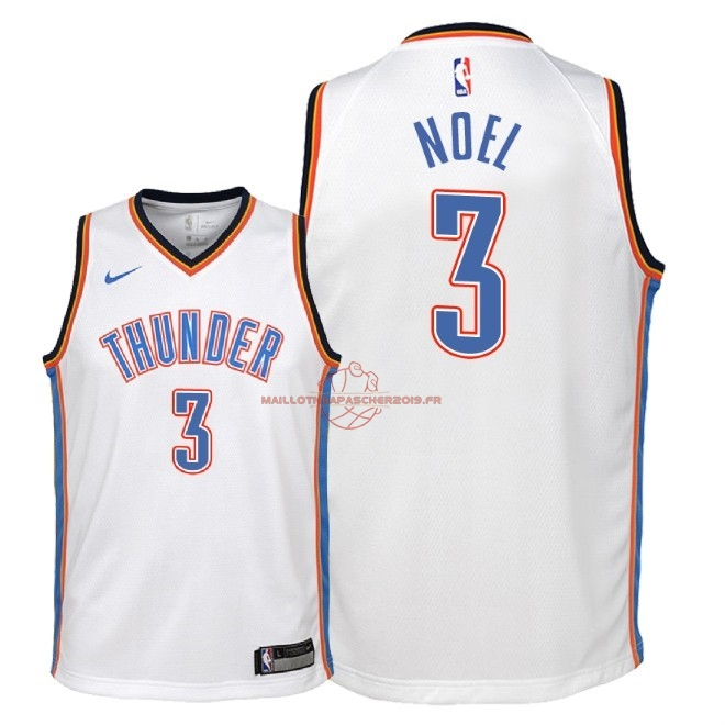 Achat Maillot NBA Enfant Oklahoma City Thunder NO.3 Nerlens Noel Blanc Association 2018 pas cher