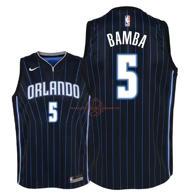 Achat Maillot NBA Enfant Orlando Magic NO.5 Mohamed Bamba Noir Statement 2018 pas cher