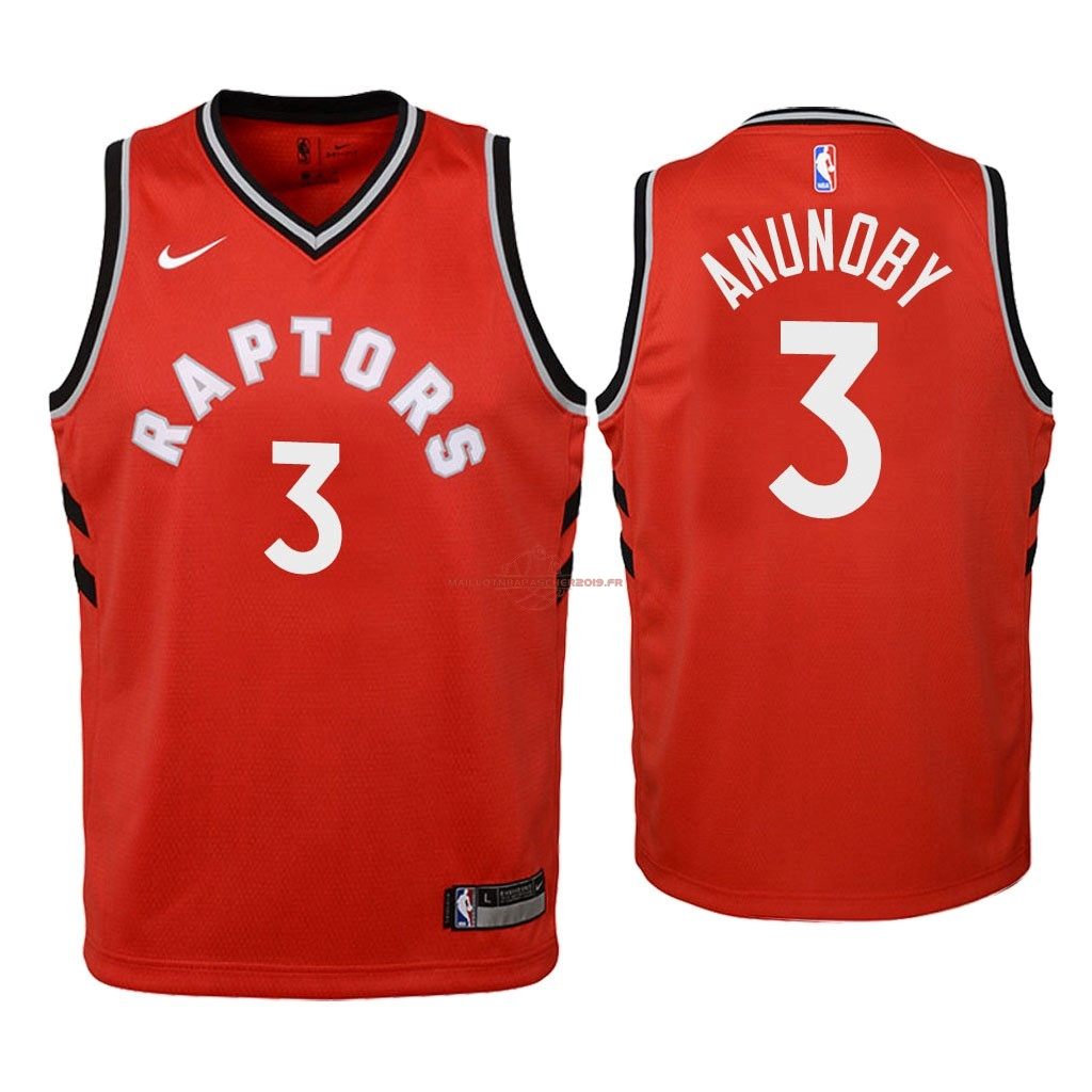 Achat Maillot NBA Enfant Toronto Raptors NO.3 OG Anunoby Rouge Icon 2018 pas cher