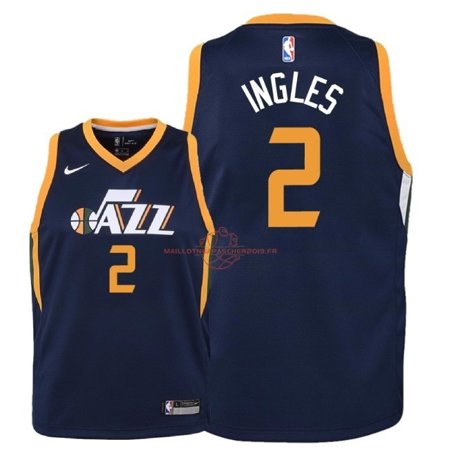 Achat Maillot NBA Enfant Utah Jazz NO.2 Joe Ingles Marine Icon 2018 pas cher