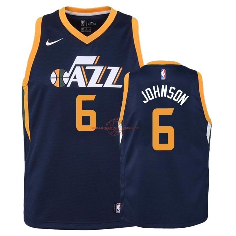 Achat Maillot NBA Enfant Utah Jazz NO.6 Joe Johnson Marine Icon 2018 pas cher