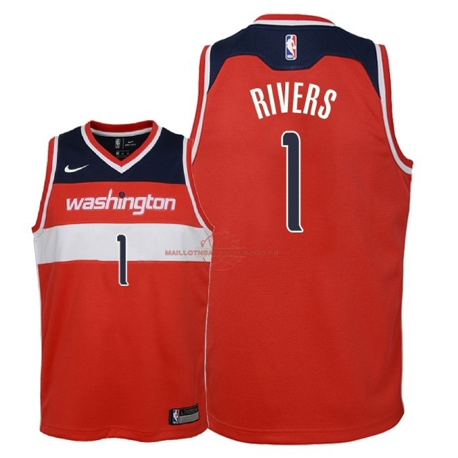 Achat Maillot NBA Enfant Washington Wizards NO.1 Austin Rivers Rouge Icon 2018 pas cher
