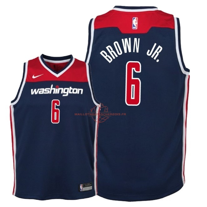 Achat Maillot NBA Enfant Washington Wizards NO.6 Troy Brown Jr Marine Statement 2018 pas cher