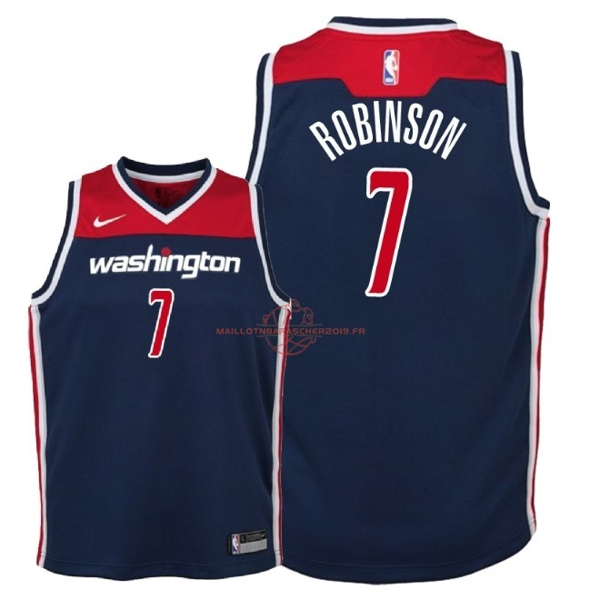 Achat Maillot NBA Enfant Washington Wizards NO.7 Devin Robinson Marine Statement 2018 pas cher