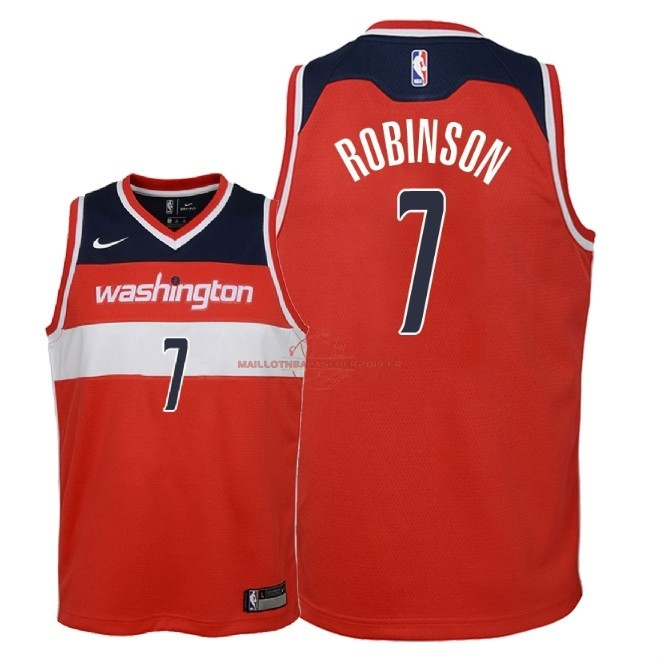Achat Maillot NBA Enfant Washington Wizards NO.7 Devin Robinson Rouge Icon 2018 pas cher