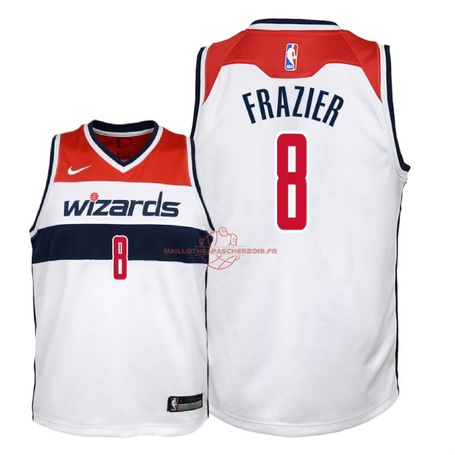 Achat Maillot NBA Enfant Washington Wizards NO.8 Tim Frazier Blanc Association 2018 pas cher