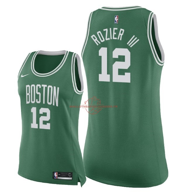 Achat Maillot NBA Femme Boston Celtics NO.12 Terry Rozier III Vert Icon 2018 pas cher