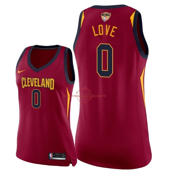 Achat Maillot NBA Femme Cleveland Cavaliers 2018 Final Champions NO.0 Kevin Love Rouge Icon Patch pas cher