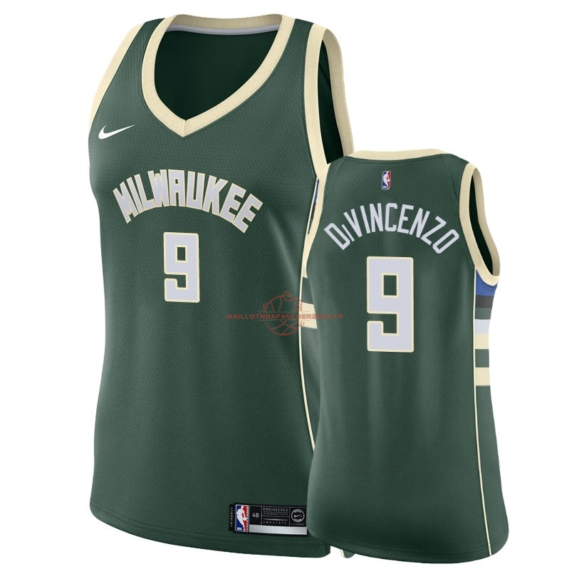 Achat Maillot NBA Femme Milwaukee Bucks NO.9 Donte DiVincenzo Vert Icon 2018 pas cher
