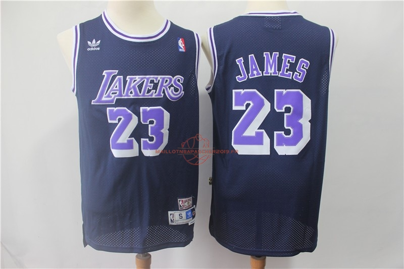 Achat Maillot NBA Los Angeles Lakers NO.23 Lebron James Retro Noir Pourpre pas cher