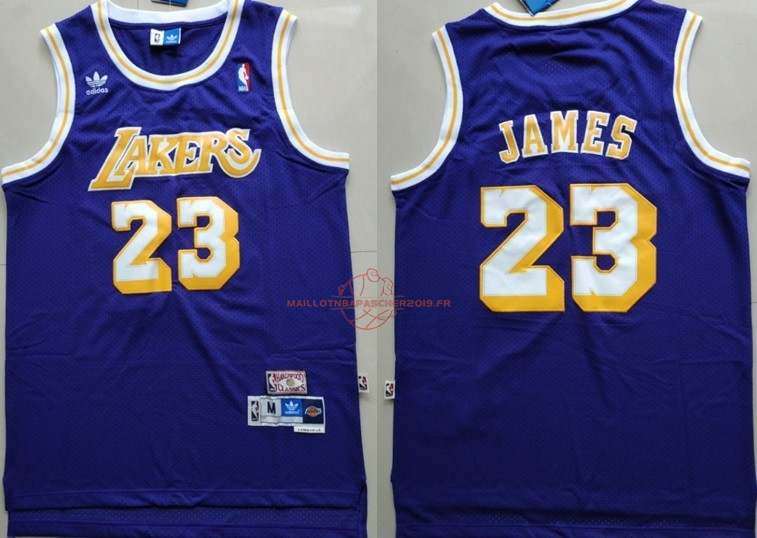 Achat Maillot NBA Los Angeles Lakers NO.23 Lebron James Retro Pourpre pas cher