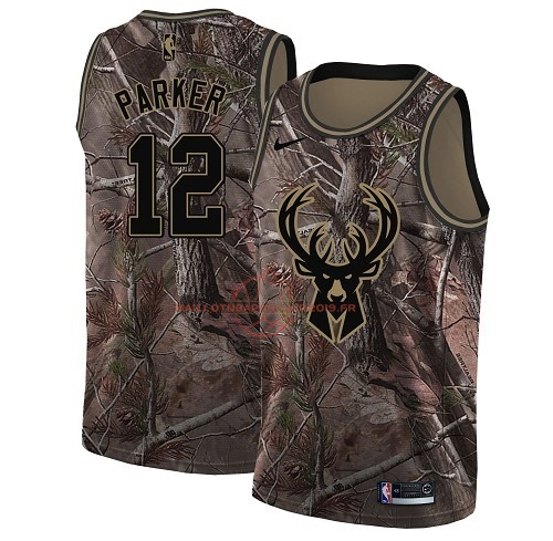 Achat Maillot NBA Milwaukee Bucks NO.12 Jabari Parker Camo Swingman Collection Realtree 2018 pas cher