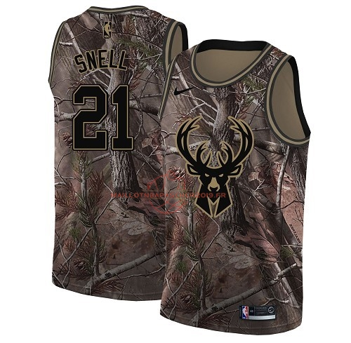 Achat Maillot NBA Milwaukee Bucks NO.21 Tony Snell Camo Swingman Collection Realtree 2018 pas cher