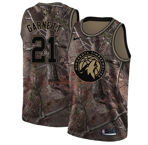 Achat Maillot NBA Minnesota Timberwolves NO.21 Kevin Garnett Camo Swingman Collection Realtree 2018 pas cher