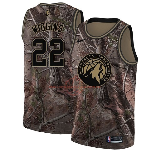Achat Maillot NBA Minnesota Timberwolves NO.22 Andrew Wiggins Camo Swingman Collection Realtree 2018 pas cher