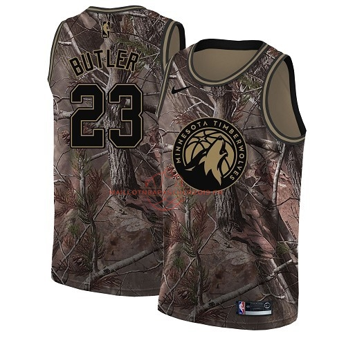 Achat Maillot NBA Minnesota Timberwolves NO.23 Jimmy Butler Camo Swingman Collection Realtree 2018 pas cher