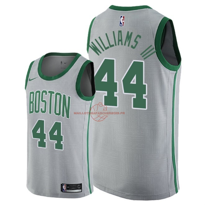Achat Maillot NBA Nike Boston Celtics NO.44 Robert Williams III Nike Gris Ville 2018-19 pas cher