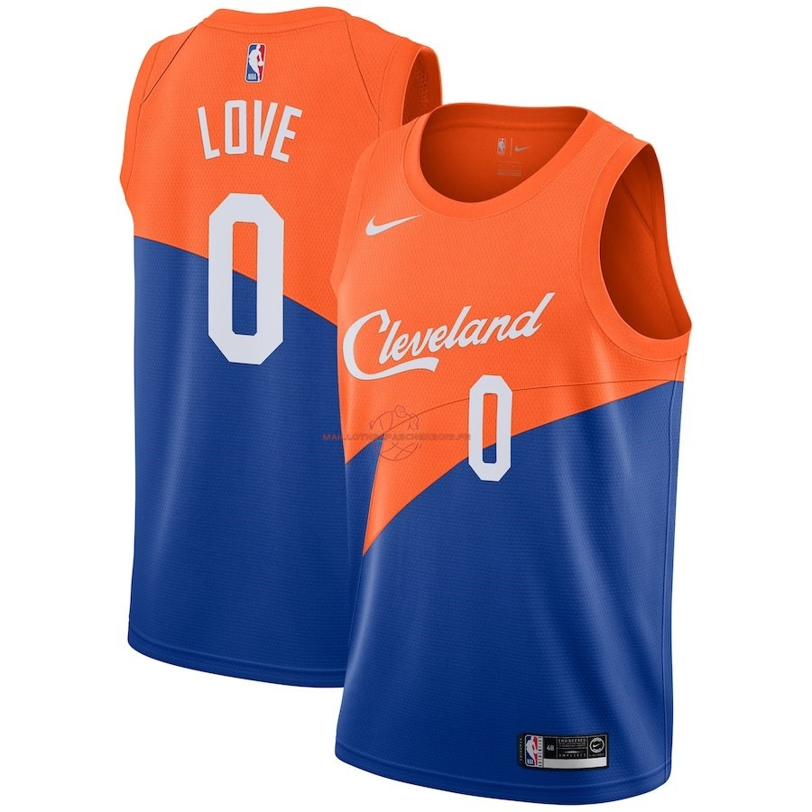 Achat Maillot NBA Nike Cleveland Cavaliers NO.0 Kevin Love Nike Bleu Ville 2018-19 pas cher