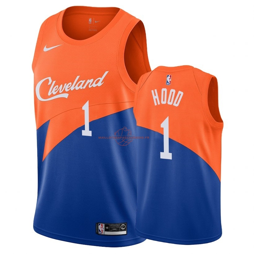 Achat Maillot NBA Nike Cleveland Cavaliers NO.1 Rodney Hood Nike Bleu Ville 2018-19 pas cher