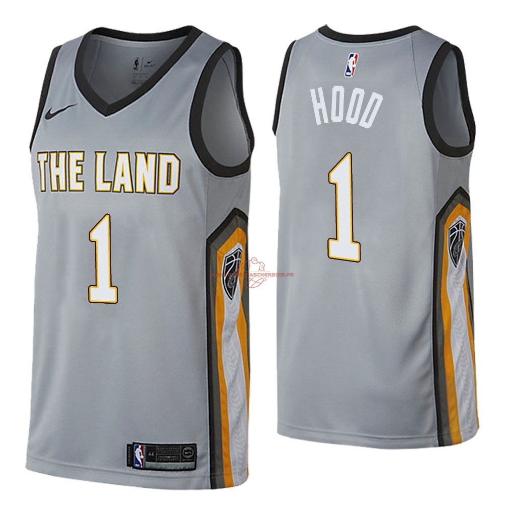 Achat Maillot NBA Nike Cleveland Cavaliers NO.1 Rodney Hood Nike Gris Ville 2018 pas cher