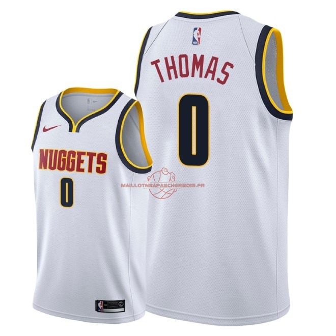 Achat Maillot NBA Nike Denver Nuggets NO.0 Isaiah Thomas Blanc Association 2018-19 pas cher