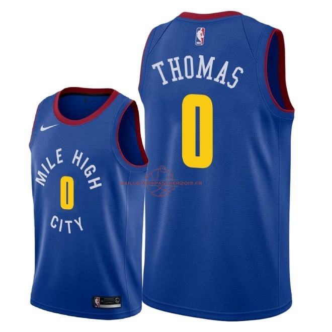 Achat Maillot NBA Nike Denver Nuggets NO.0 Isaiah Thomas Bleu Statement 2018-19 pas cher