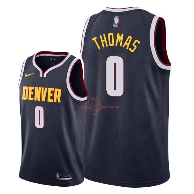 Achat Maillot NBA Nike Denver Nuggets NO.0 Isaiah Thomas Marine Icon 2018-19 pas cher