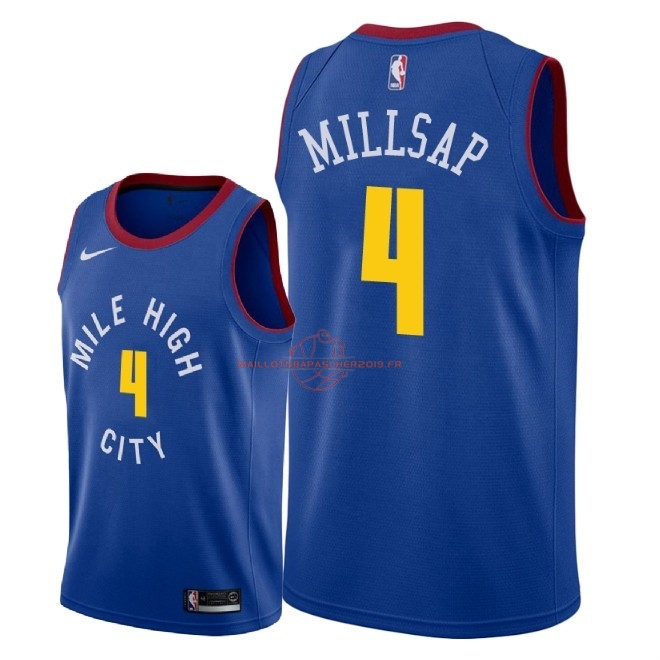 Achat Maillot NBA Nike Denver Nuggets NO.4 Paul Millsap Bleu Statement 2018-19 pas cher