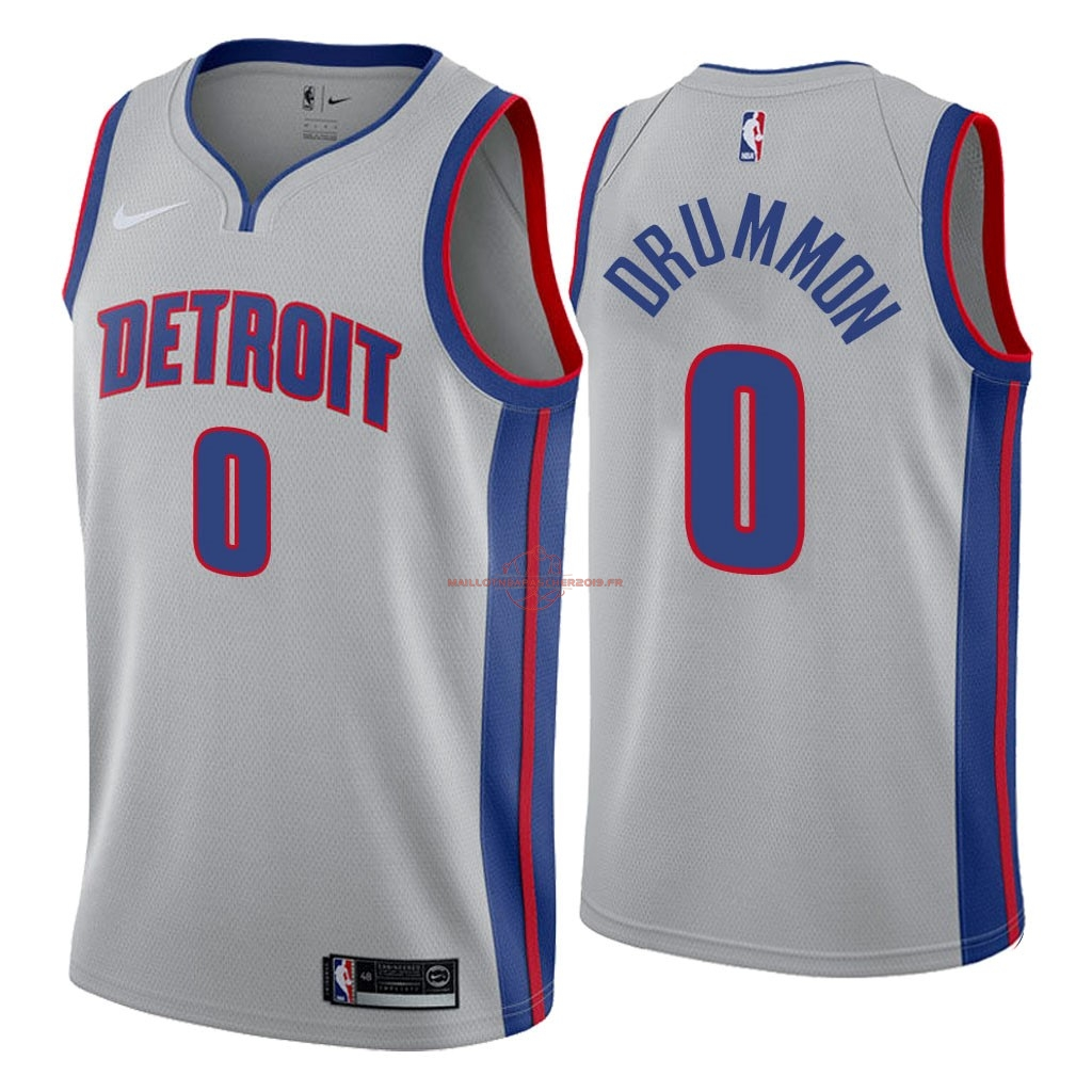 Achat Maillot NBA Nike Detroit Pistons NO.0 Andre Drummond Gris Statement 2018 pas cher