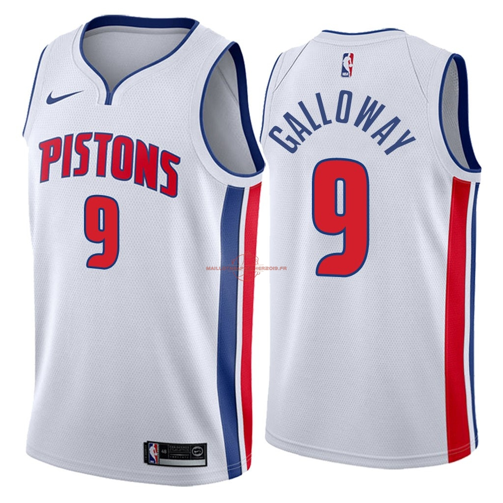 Achat Maillot NBA Nike Detroit Pistons NO.9 Langston Galloway Blanc Association 2018 pas cher