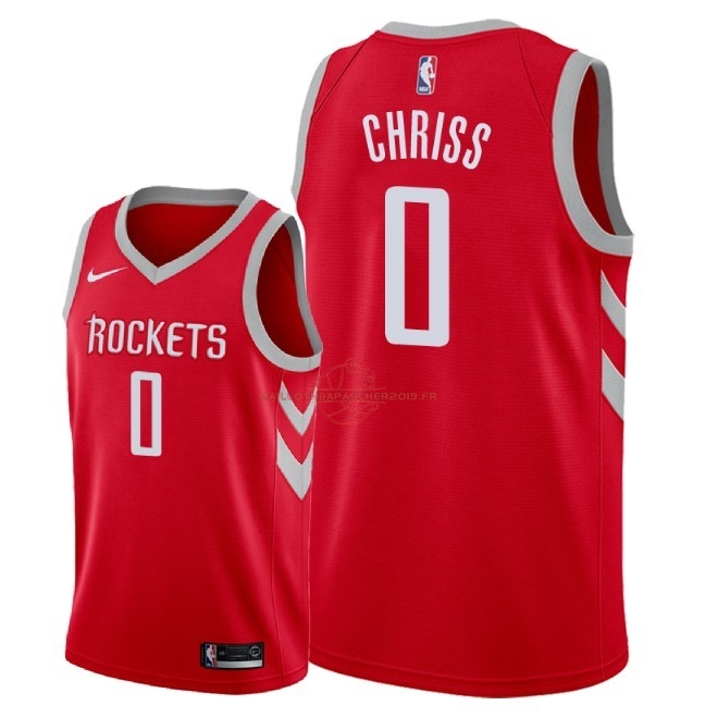 Achat Maillot NBA Nike Houston Rockets NO.0 Marquese Chriss Rouge Icon 2018 pas cher