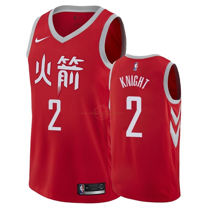 Achat Maillot NBA Nike Houston Rockets NO.2 Brandon Knight Nike Rouge Ville 2018 pas cher