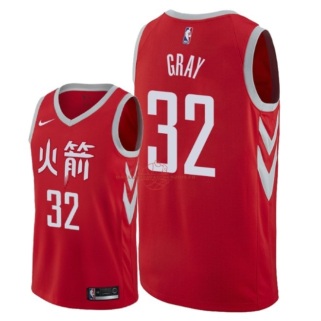 Achat Maillot NBA Nike Houston Rockets NO.32 Rob Gray Nike Rouge Ville 2018 pas cher