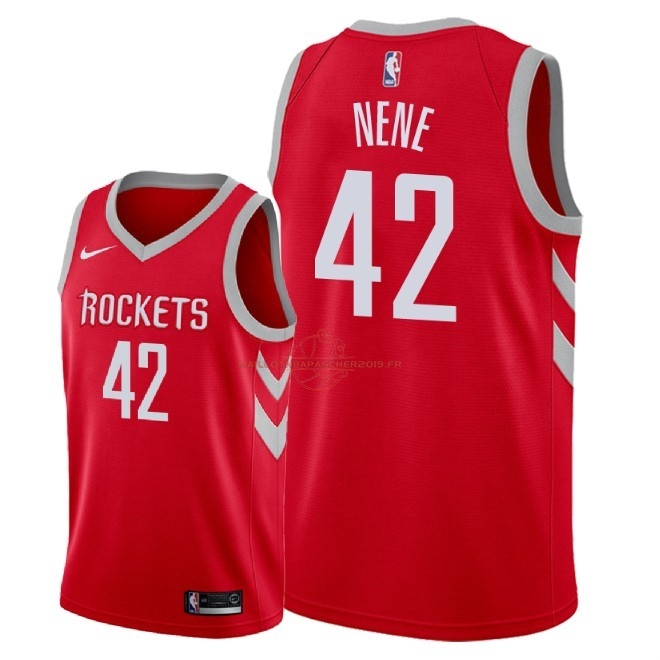 Achat Maillot NBA Nike Houston Rockets NO.42 Nene Rouge Icon 2018 pas cher