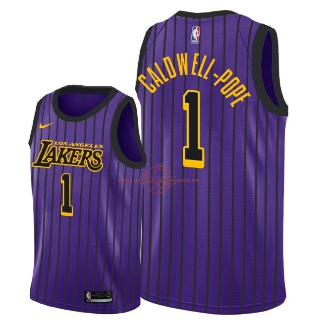 Achat Maillot NBA Nike Los Angeles Lakers NO.1 Kentavious Caldwell Pope Nike Pourpre Ville 2018-19 pas cher