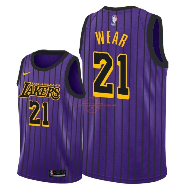Achat Maillot NBA Nike Los Angeles Lakers NO.21 Travis Wear Nike Pourpre Ville 2018-19 pas cher