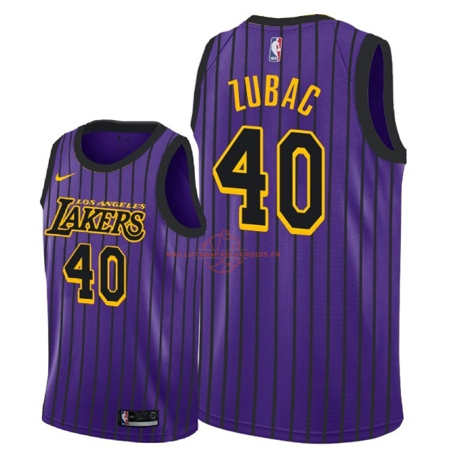 Achat Maillot NBA Nike Los Angeles Lakers NO.40 Ivica Zubac Nike Pourpre Ville 2018-19 pas cher