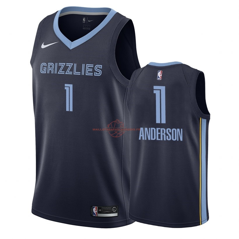 Achat Maillot NBA Nike Memphis Grizzlies NO.1 Kyle Anderson Marine Icon 2018-19 pas cher