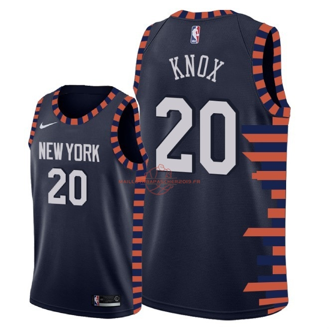 Achat Maillot NBA Nike New York Knicks NO.20 Kevin Knox Nike Marine Ville 2018-19 pas cher