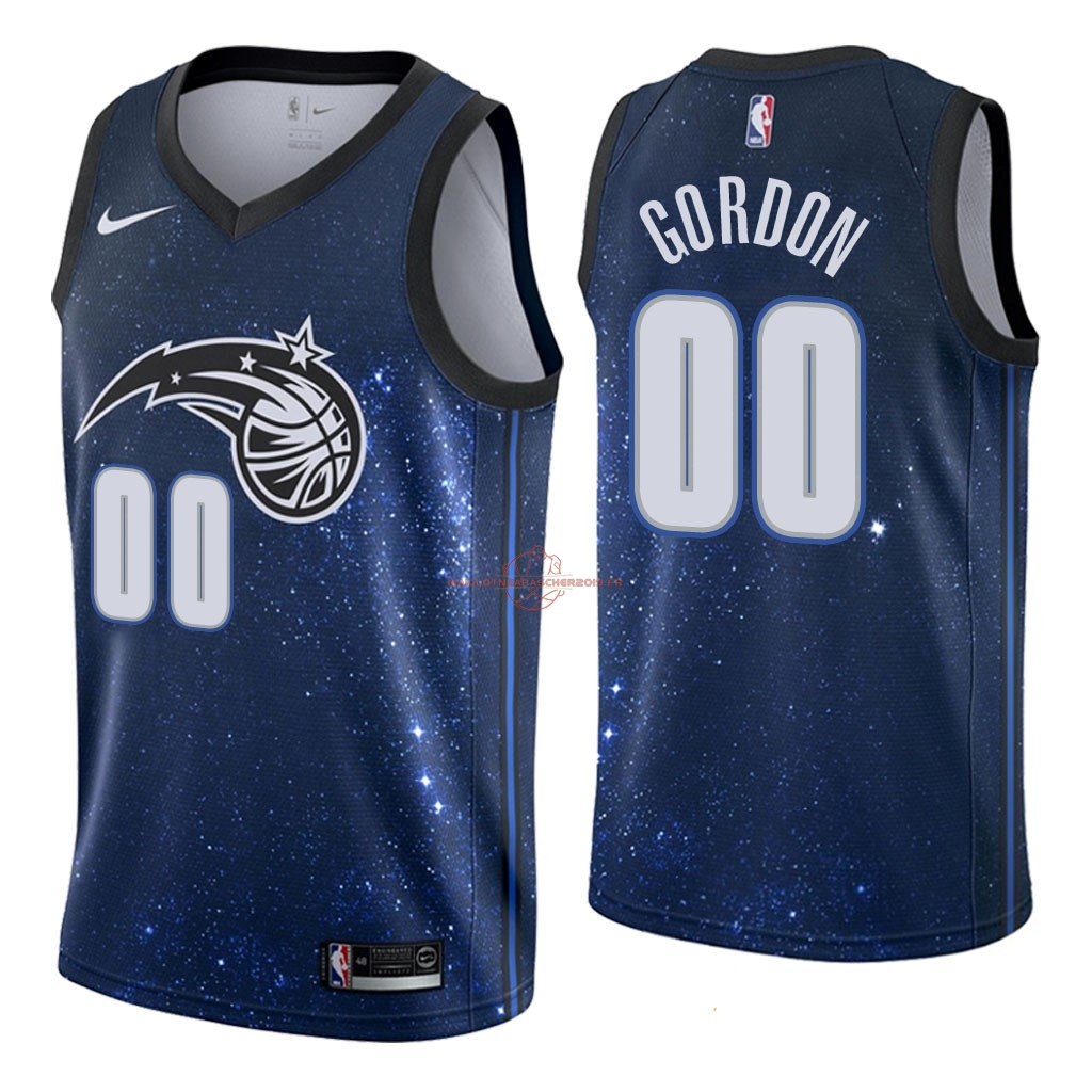 Achat Maillot NBA Nike Orlando Magic NO.0 Aaron Gordon Nike Marine Ville 2018 pas cher