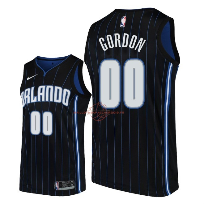 Achat Maillot NBA Nike Orlando Magic NO.0 Aaron Gordon Noir Statement 2018 pas cher