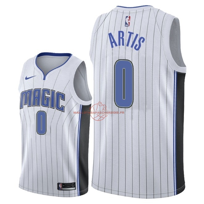 Achat Maillot NBA Nike Orlando Magic NO.0 Jamel Artis Blanc Association 2018 pas cher