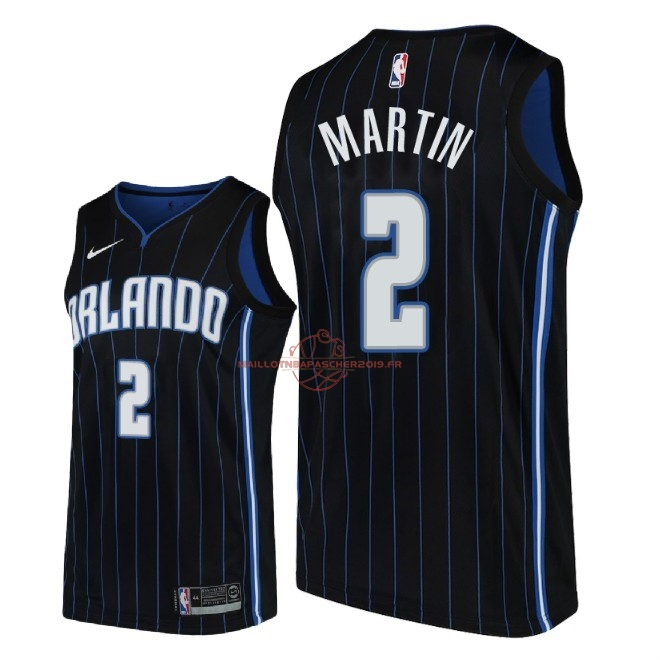 Achat Maillot NBA Nike Orlando Magic NO.2 Jarell Martin Noir Statement 2018-19 pas cher
