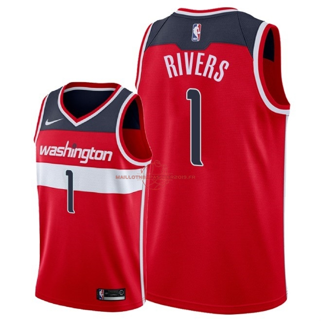 Achat Maillot NBA Nike Washington Wizards NO.1 Austin Rivers Rouge Icon 2018 pas cher