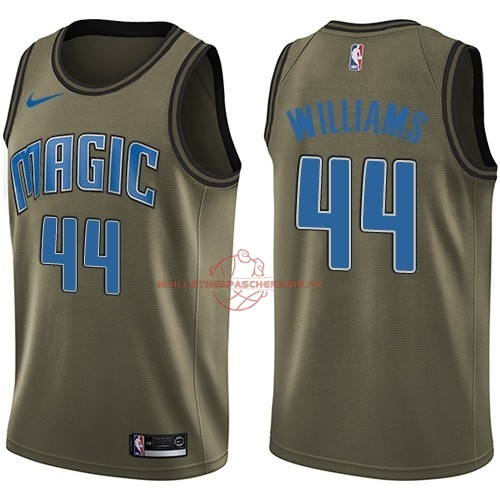 Achat Maillot NBA Service De Salut Orlando Magic NO.44 Jason Williams Nike Armée verte 2018 pas cher